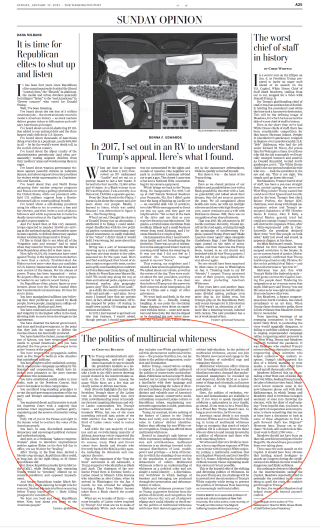 C's op-ed in Washington Post Sunday 1-17-21 highlighted copy